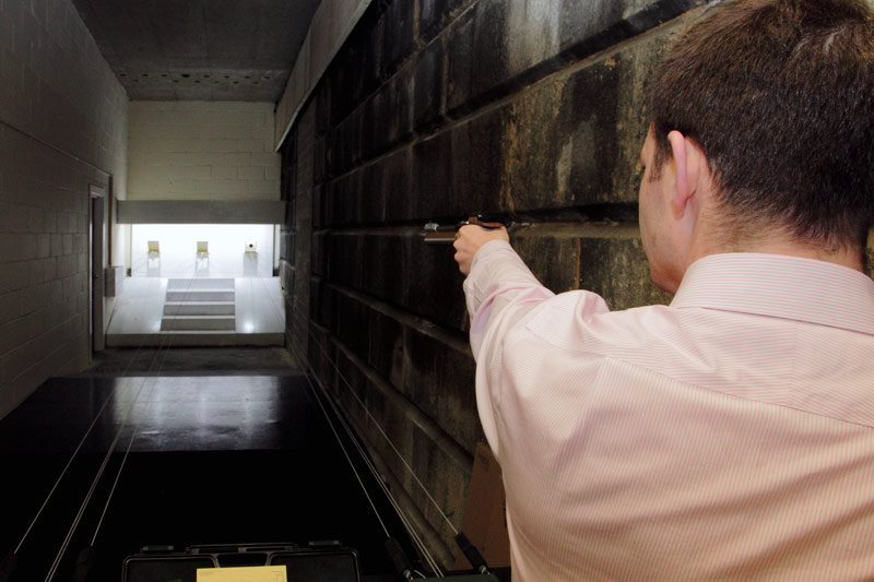 Air Pistol underneath London Bridge at the Stock Exchange Rifle Club