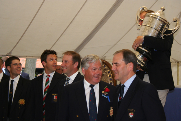Prize-Giving at the Imperial Meeting. Stock Exchange chairman Brian Cudby